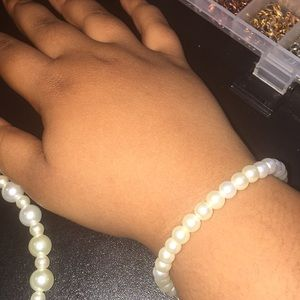 Jewelry - 2 pack anklet and bracelet white pearls